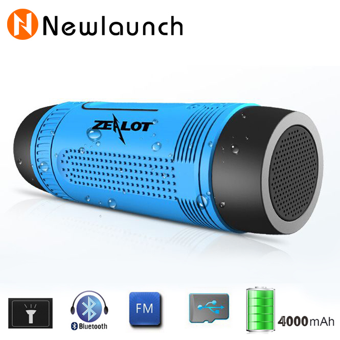 Outdoor Waterproof Bluetooth Speaker With LED Flashlight Sport Stereo Wireless portable Speaker 4000mAh Battery & TF Card Slot(China (Mainland))
