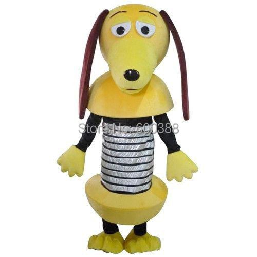 Wholesale Slinky Dog adult size lovely mascot costume cosplay free S H