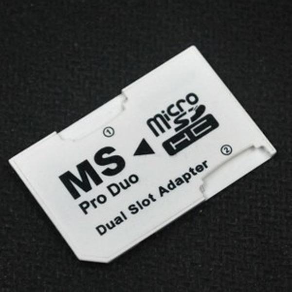 Dual Slot Adapter Micro SD reader MS Pro Duo Adapter(China (Mainland))