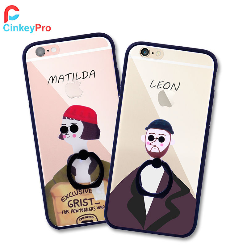 For Apple iPhone 6 Case 6S 4 7 inch Cartoon Cases Leon Matilda Ring Holder Cover