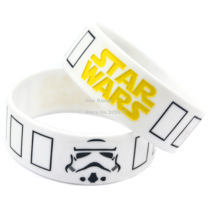 25PCS/Lot Bulk Cheap Star Wars Stormtrooper Mask Silicone Wristband Bracelet(China (Mainland))