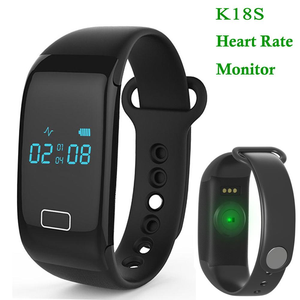 K18S Heart Rate Smart Wristband bracelet Bluetooth 4.0 Sleep Monitor Sport Watch Black Color