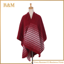 2016 New fashion thick tartan plaid cashmere poncho blanket scarf for women winter warm shawl wraps pashmina hot sale