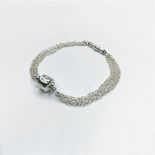 2017 hot S925 sterling silver link Chain Bracelet with CLASP Fit Pandora Bracelet Bangle charms DIY Fashion Jewelry for women(China (Mainland))