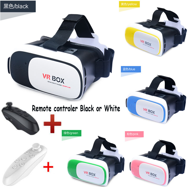 """Google cardboard HeadMount VR BOX 2.0 Version VR Virtual 3D Glasses for 3.5"""" - 6.0"""" Smart Phone remote controller could optional(China (Mainland))"""