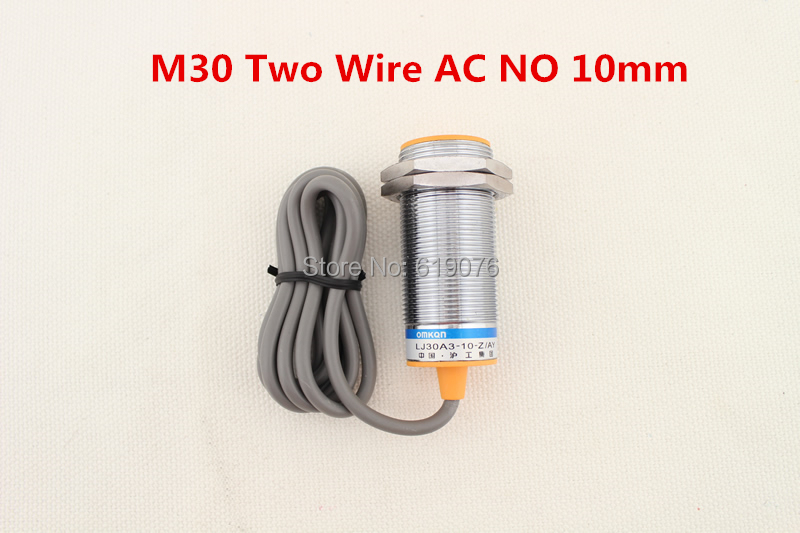 5Pcs M30 Two Wire AC NO 10mm distance measuring Inductive proximity switch sensor -LJ30A3-10-J/EZ(China (Mainland))