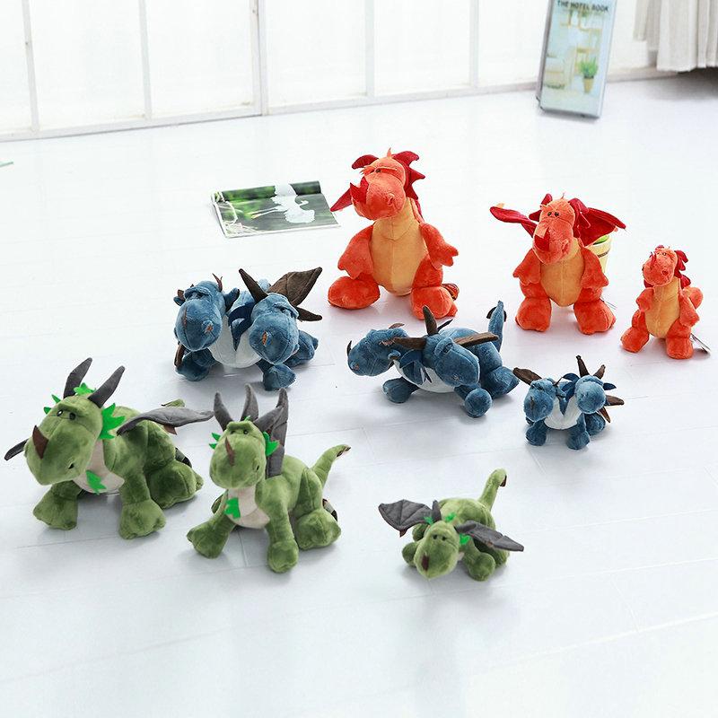 2017 New Style baby doll boy gift 23-60cm Cute Blue Dinosaur plush Toys Green Dinosaur Stuffed Plush Toys(China (Mainland))