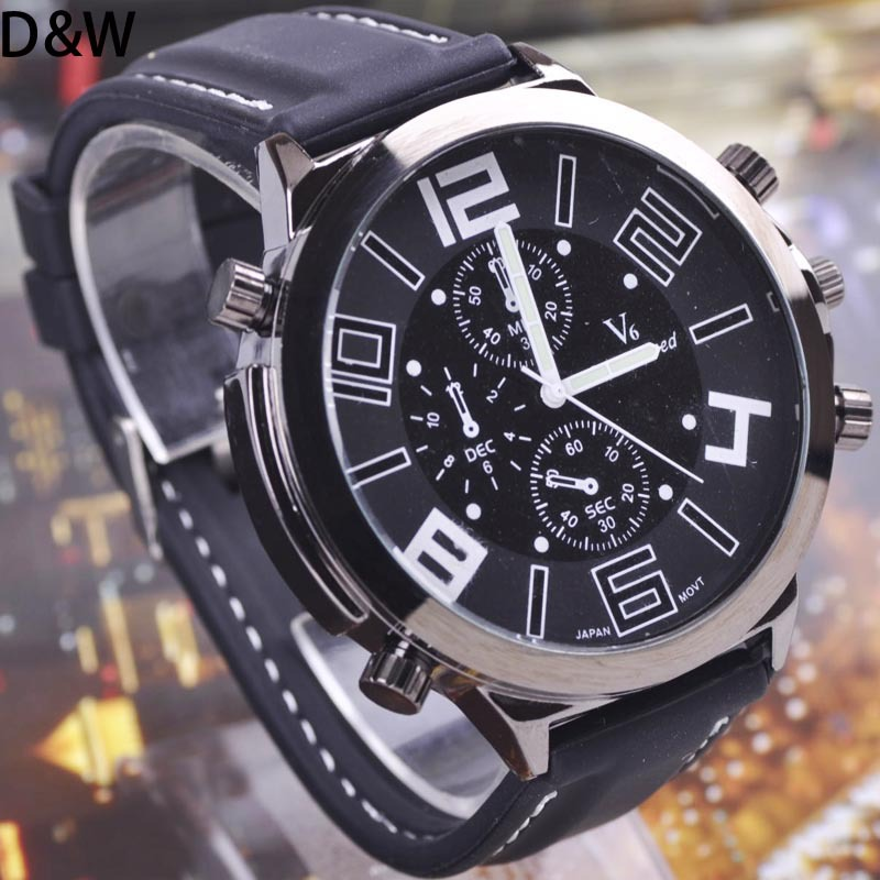 New 2015 fashion casual V6 watches men luxury brand analog business military watch quartz male wristwatches free shipping<br><br>Aliexpress