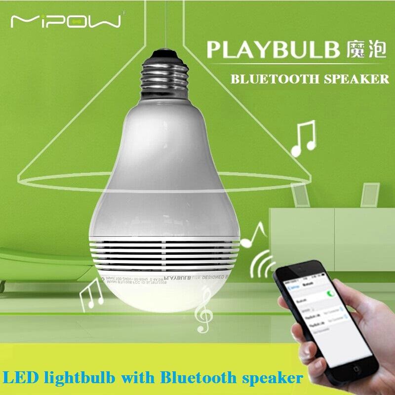 MIPOW PLAYBULB Smart LED Blub Light Wireless Bluetooth Speaker 110V - 240V E27 3W Lamp Audio for iPhone 5S 5C 5 iPad air(China (Mainland))