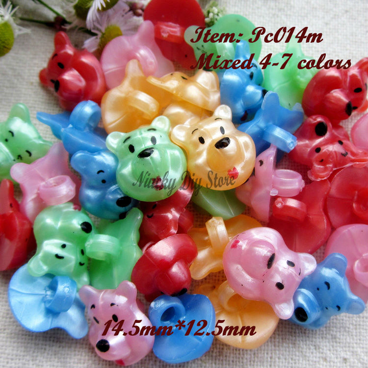 120 pcs/lot colorful kids buttons mix animal bear buttons for scrapbook material and accessories for crafts wholesale(China (Mainland))