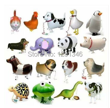 Wholesale Walking Pet Balloons Mix Animals 200pcs/lot Aluminum Balloons Inflatable Toys For Kids Birthday Party Decorations(China (Mainland))