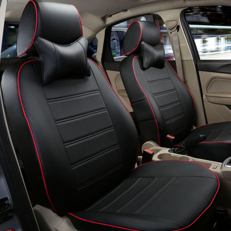 Online Get Cheap Faux Leather Car Seat Covers Aliexpress