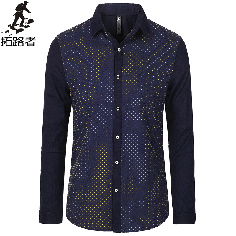 Free shipping autumn slim casual shirt new fashion 2015 for Men s 100 percent cotton dress shirts