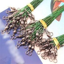 2014 Brand New Steel Wire Lead Hanging Board Fishing Tackle Lures/Anti-bite Line Fishing Lures 72 pcs