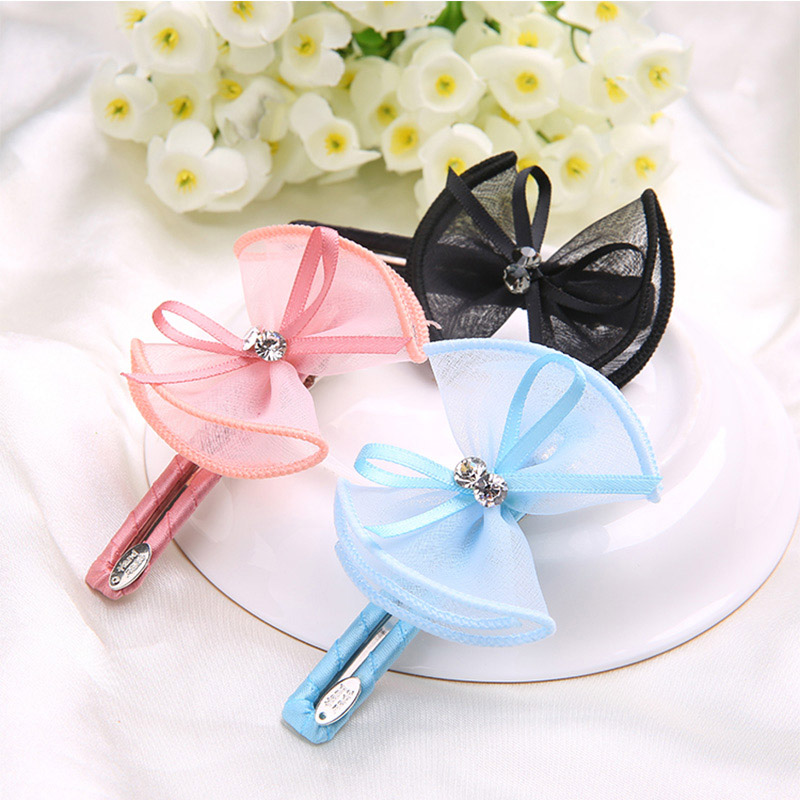 women Hair Clip Big Solid Bow Hairpin Girls Hair Colourful Accessories Barrette New Arrival Casual Cute Simple Style Cloth(China (Mainland))