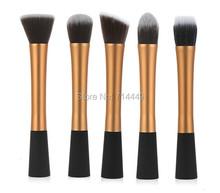 Sixplus Synthetic Brushes Makeup 5pcs Set Golden makeup brush set Cosmetic Brushes Tools Soft Smooth