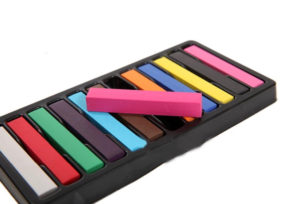 Lápis de cor 12 cores para para Kit giz Pastel cor de cabelo pânico Manic louco personalizado DIY estilo de cabelo