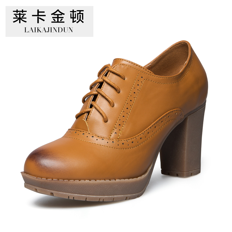 Famous Brand Womens Fashion High Heels Vintage Shoes Pumps Oxfords Women Shoe ,Euro Size 35--40