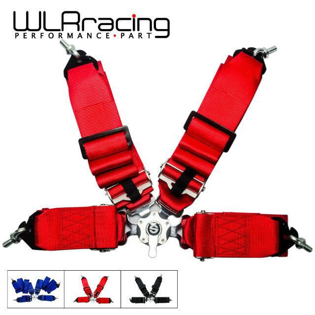 WLR STORE- NEW SPA STYLE 4 POINT SAFETY RACING HARNESS SEAT BELT 3 INCH CAM LOCK SAFETY BELT PQY-SB11(China (Mainland))