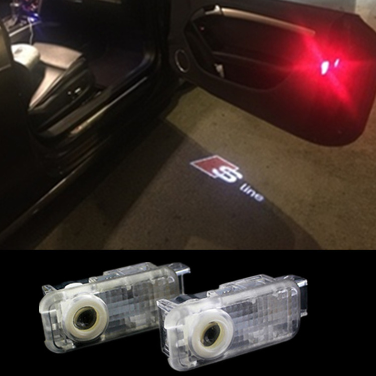 car door light ghost shadow welcome light logo projector emblem For Audi A3 A4 A6 A8 A6L R8 Q5 Q7 TT A5 A7 A4L A6L A1 Q3 S line(China (Mainland))