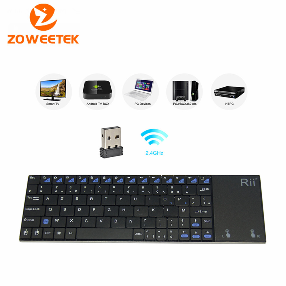 Russian Keyboard Rii mini i12 Wireless French Keyboard with Touchpad mouse Mini PC Teclado for Tablet Apple Pad Mac Laptop HTPC<br><br>Aliexpress