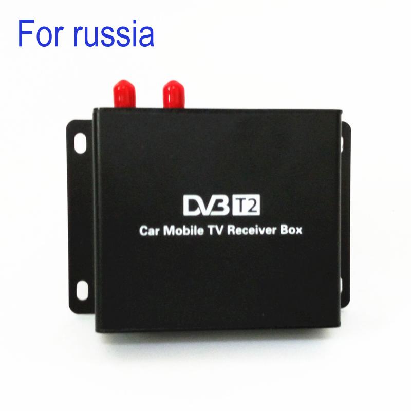 160-190km/h DVB T2 Car TV Tuner MPEG4 SD/HD 1080P DVB-T2 Digital TV Receiver for Russia(China (Mainland))