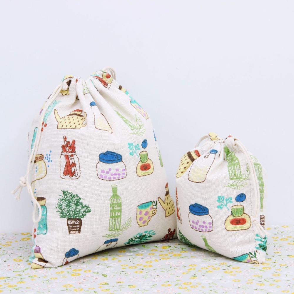 1PCS Pouch Wholesale Cotton Drawstring Bag Pouch Tea Gift Bag Small Bottle Children's Best Love Candy Bags storage Bag(China (Mainland))