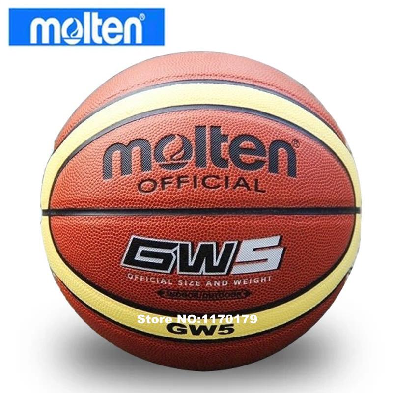 Wholesale Molten Brand GW5 Basketball Ball PU Leather A+++ Quality Basketball Official Size 5&Weight Basketball Free Needle&Net(China (Mainland))