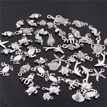 Buy Sweet Bell 60PCS Mixed Antique silver mini Ocean Dolphin Shell Charms Pendant Jewelry Making Diy Charm Handmade Crafts H3003 for $4.09 in AliExpress store