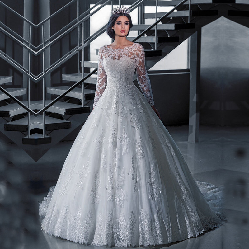 Popular long sleeve winter wedding dresses buy cheap long for Bridesmaid dresses for a winter wedding