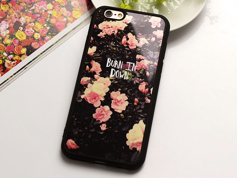 Mobile Phone Mirror Cases For iphone SE Cover Luxury Brand Fashion Flower Soft Silicon Coque Funda For iphone 5 5s Carcasa Capa