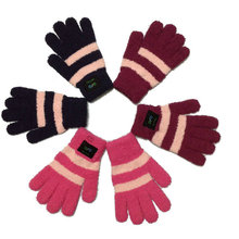100 pair universal smart bluetooth hands free touch screen plush gloves in color box for girl used.(China (Mainland))
