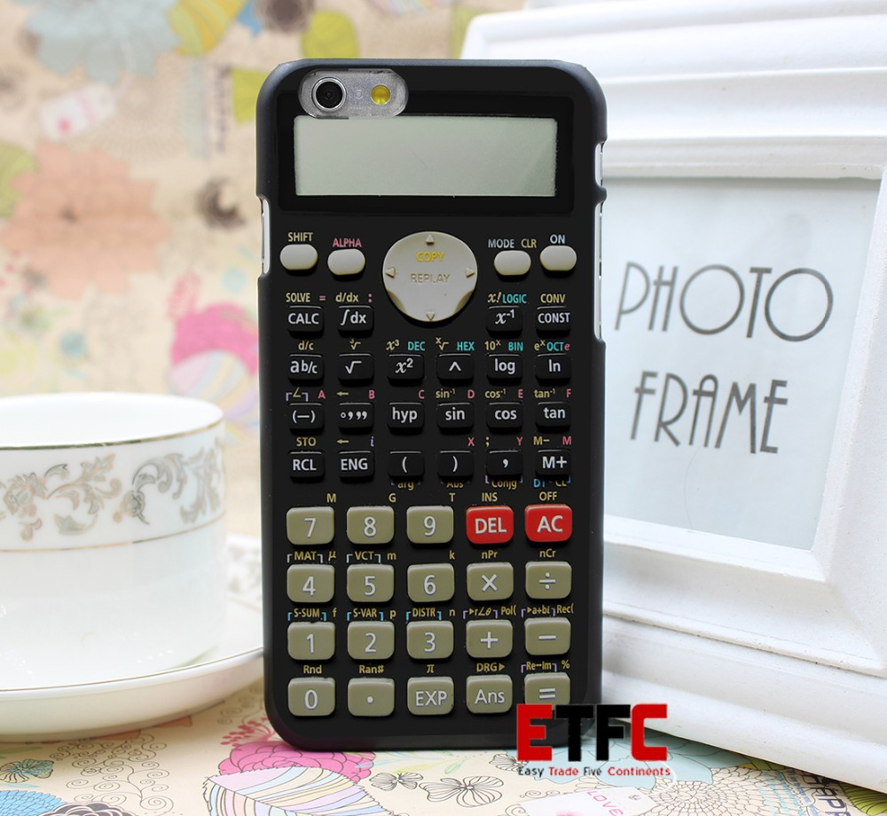Camo Series Scientific calculator Design Hard Back Skin Black Case Cover for iPhone 6 6s 7 7 Plus(China (Mainland))