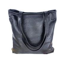 New Fashion Brand Black Leisure Lady Handbag Shoulder Bag PU Leather Women Tote Purse For Lady Free Shipping(China (Mainland))