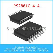 Hot Sell Integrated Circuits Original PS2801C-4-A OPTOISOLAT 4CH TRANS OUT 16-SSOP 2801 PS2801C 1pcs