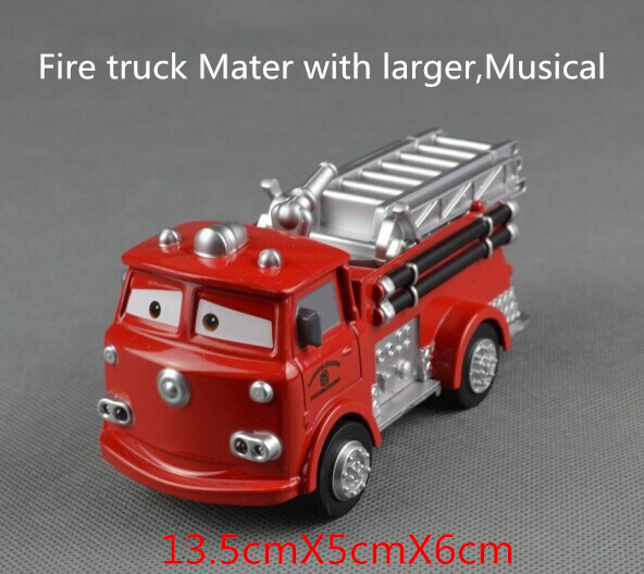 Pixar Trucks Diecast Figure Toys,Fire truck Mater,Matel toys, Collections for kids gifts - Rescue Squad Mater(Hong Kong)