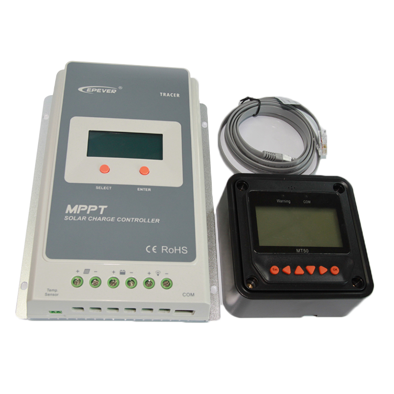 Tracer3210A MPPT Solar Charge Controller 30A 12/24V + Panel meter MT50<br><br>Aliexpress