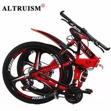 Buy Altruism X9 Pro Bmx Folding Bike Aluminium Men&Women 21 Speed 26 Inch Double Disc Brake Mountain Bicycle Bisiklet Road Bike for $296.38 in AliExpress store
