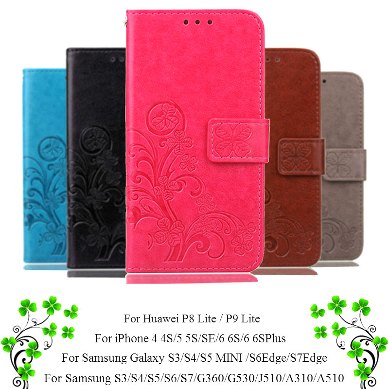 Для iPhone 7 Plus 4S 5S 4 5 6 S Кожаный Чехол Флип Для Samsung Galaxy A3 A5 J3 J5 2016 J1 S7 S6 S3 S5 S4 Мини Гранд Премьер крышка