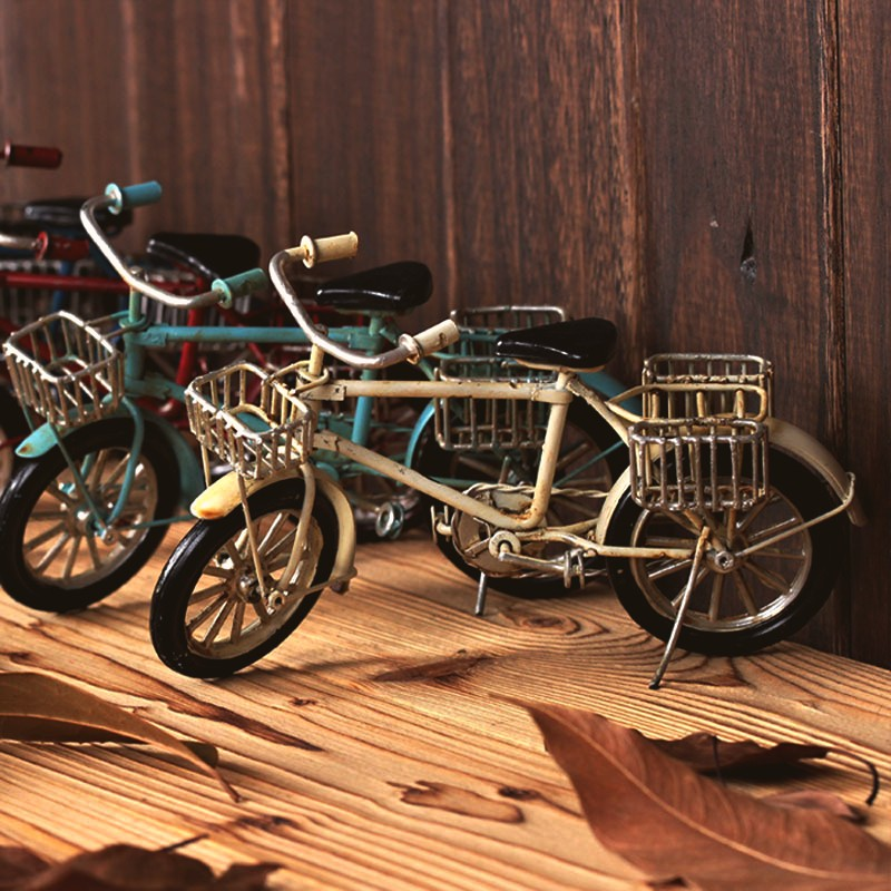 Hand made art Tin Model Retro and Nostalgic Bicycle Craft Desktop Display Home Decoration best gift Kid Toy quality art work