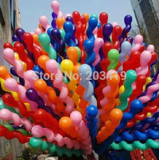 spiral pearl screw 150cm stick colorful Latex Balloons for Birthday Wedding Party Decoration wholesale retail(China (Mainland))