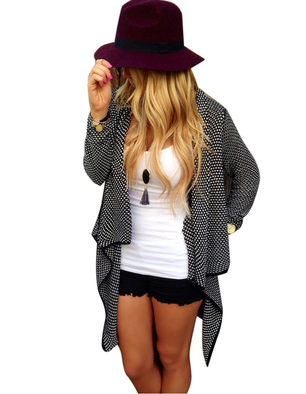 2015 New Autunm Winter Ladies Women Loose Casual Knitted Cardigan Jacket Irregular Women Sweater Tops Coat Plus Size Outwear(China (Mainland))