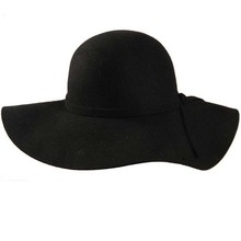 100% pure wool caps fedoras Hofn's stetson beach floppy wide brim sun hat foldable with tie for women autumn-summer(China (Mainland))