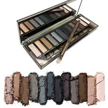 NAKE smoky Makeup Eyeshadow Palette Brand make up Cosmetics Professional 12 Colors Eye Shadow with Brush(China (Mainland))
