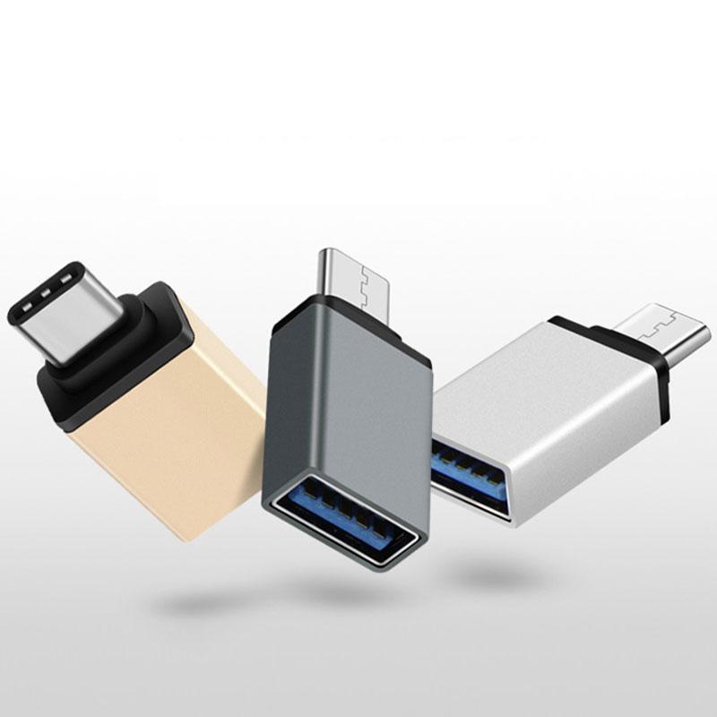 Metal USB Type-C 3.1 Male 3.0 Female OTG Converter Adapter Samsung S8 Xiaomi Mi4C Mi4S Mi5 Plus OnePlus 3 Nexus 5X 6P  -  Yeemai Trading Co., Ltd store store