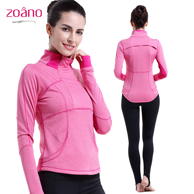 Zoano Brand Women Yoga Sports Suits Tops Solid Color Turn-collar Casual Tracksuit For Women Spring Brand Women Clothing,YT52110<br><br>Aliexpress