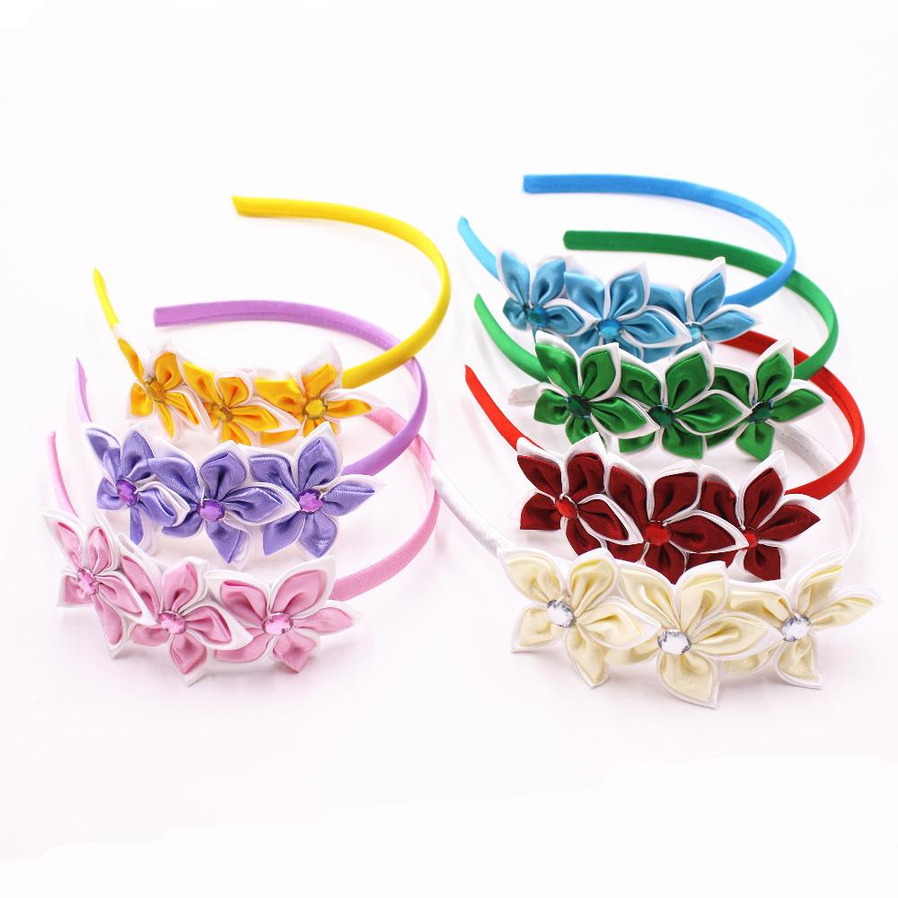 Cute Solid Color Stars Hair Band Kids Beautiful Rhinestone Headband Princess Headwear Girls Hair Accessories(China (Mainland))