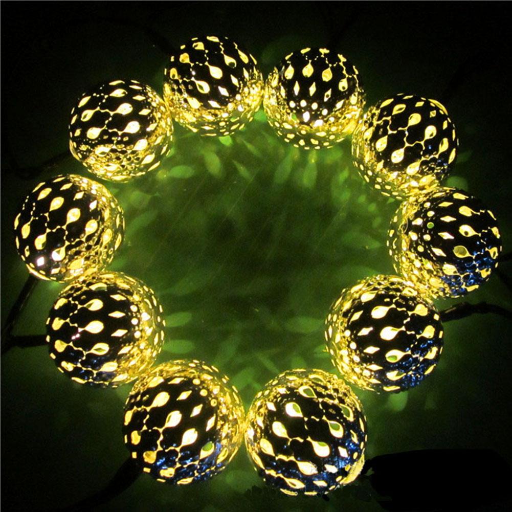 retro de bola de acero al aire libre con energa solar led luces de cadena