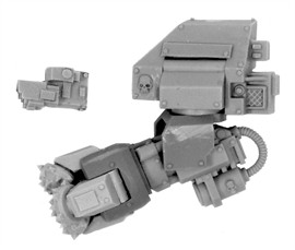 forge world 40k forge world MK IV DREADNOUGHT ASSAULT DRILL (LEFT ARM)(China (Mainland))