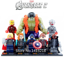 8 pcs Avengers 2 Ultron Marvel Movie superheroes Captain America Iron Man Hulk legoelieds Building Blocks NOTBox Boys Toys Gifts(China (Mainland))